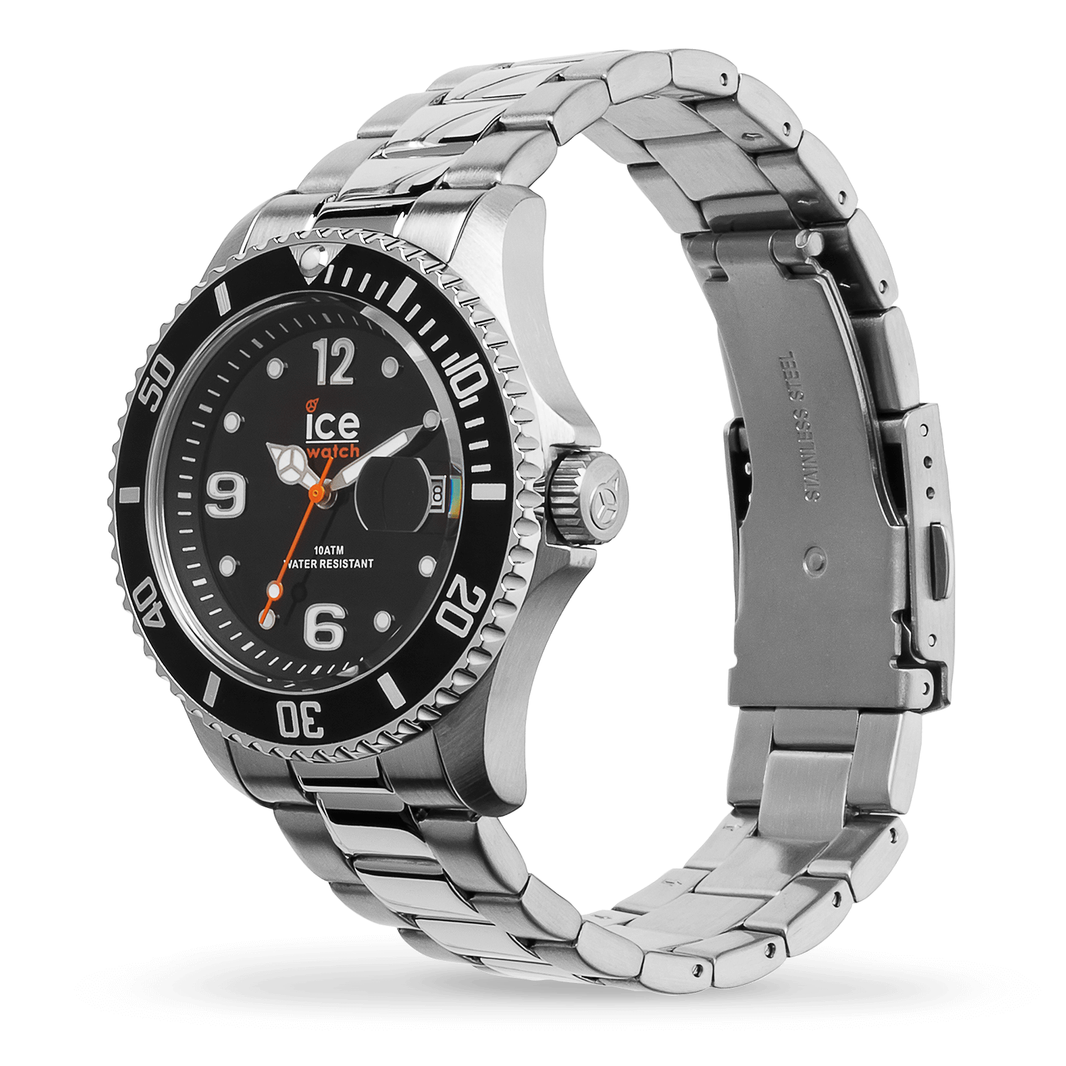 Armbanduhr ICE steel - Black silver